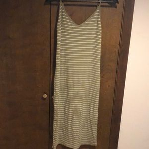 Long green and white striped forever 21 dress